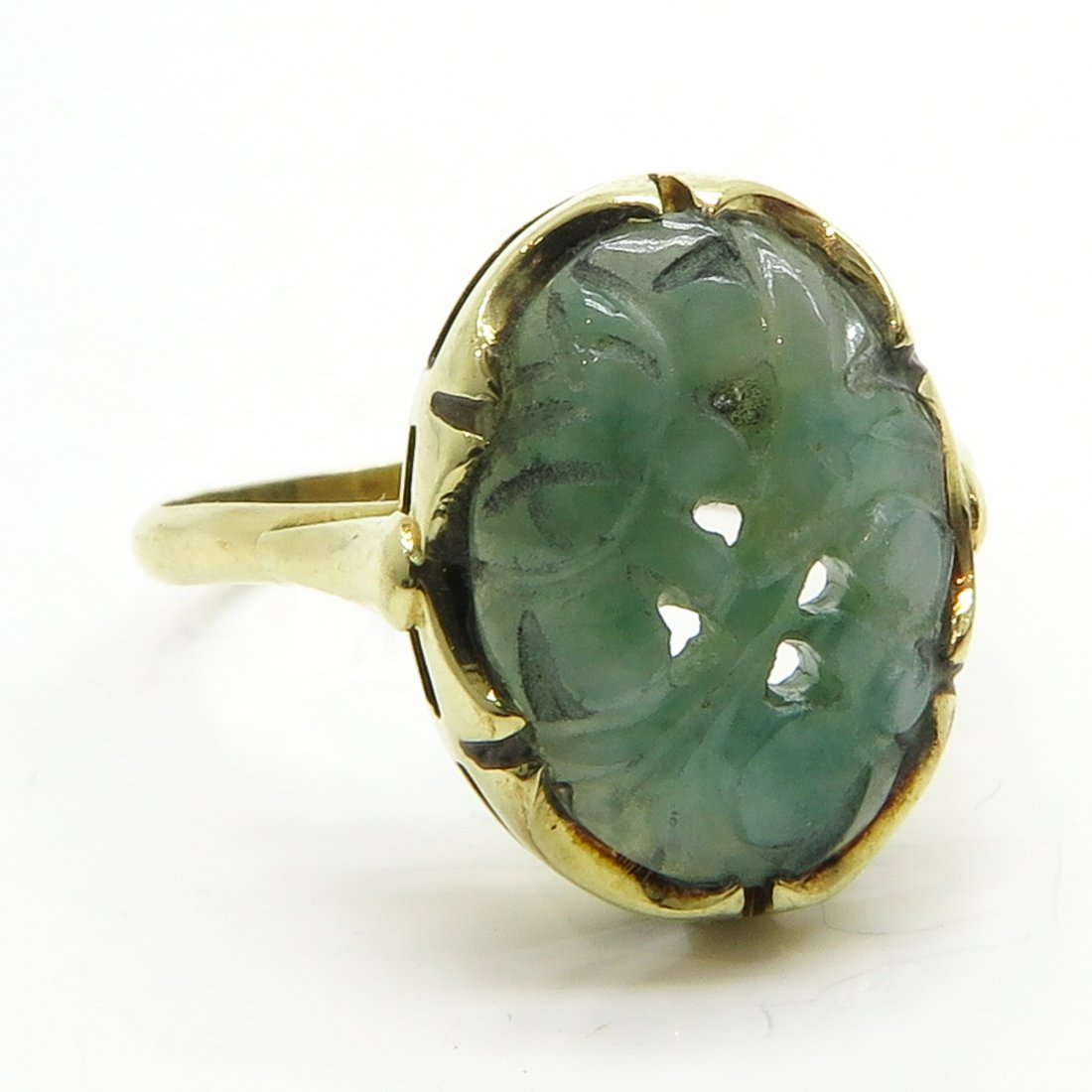 14KG Ladies Jade Ring