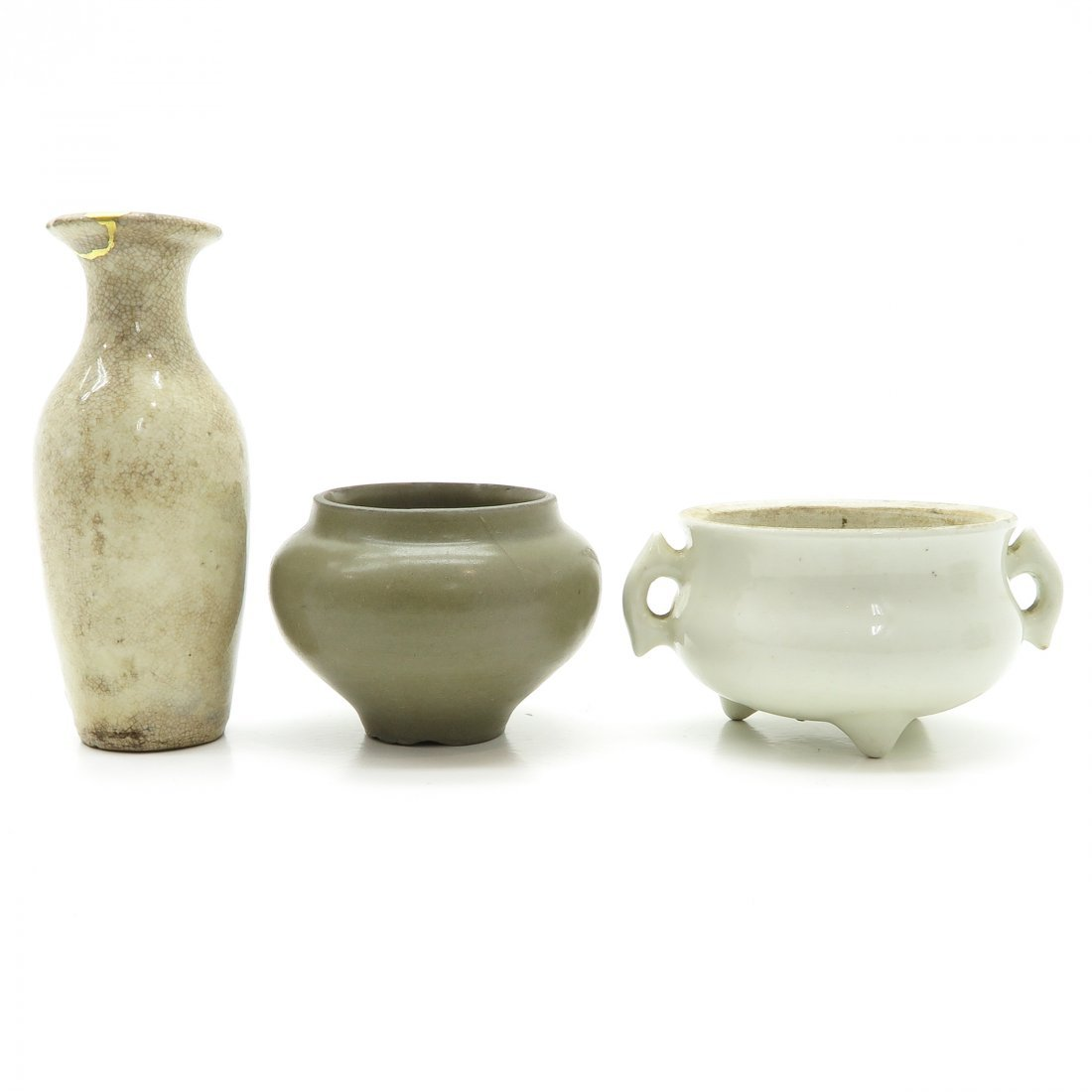 China Porcelain Vase with Small Bowl and Censer