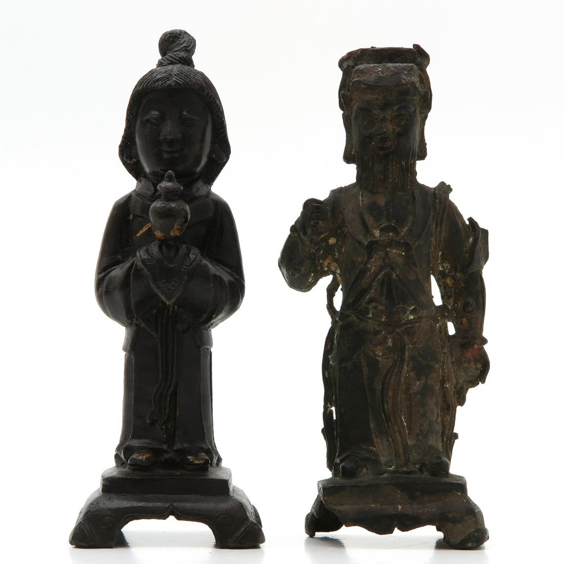 Lot of 2 Chinese Bronze Sculptures