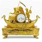A Fine French Empire Gilt Bronze Clock