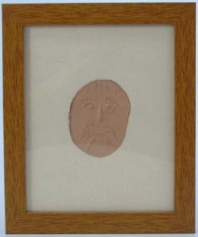 Pablo Picasso - Framed & Matted Pottery Plaque