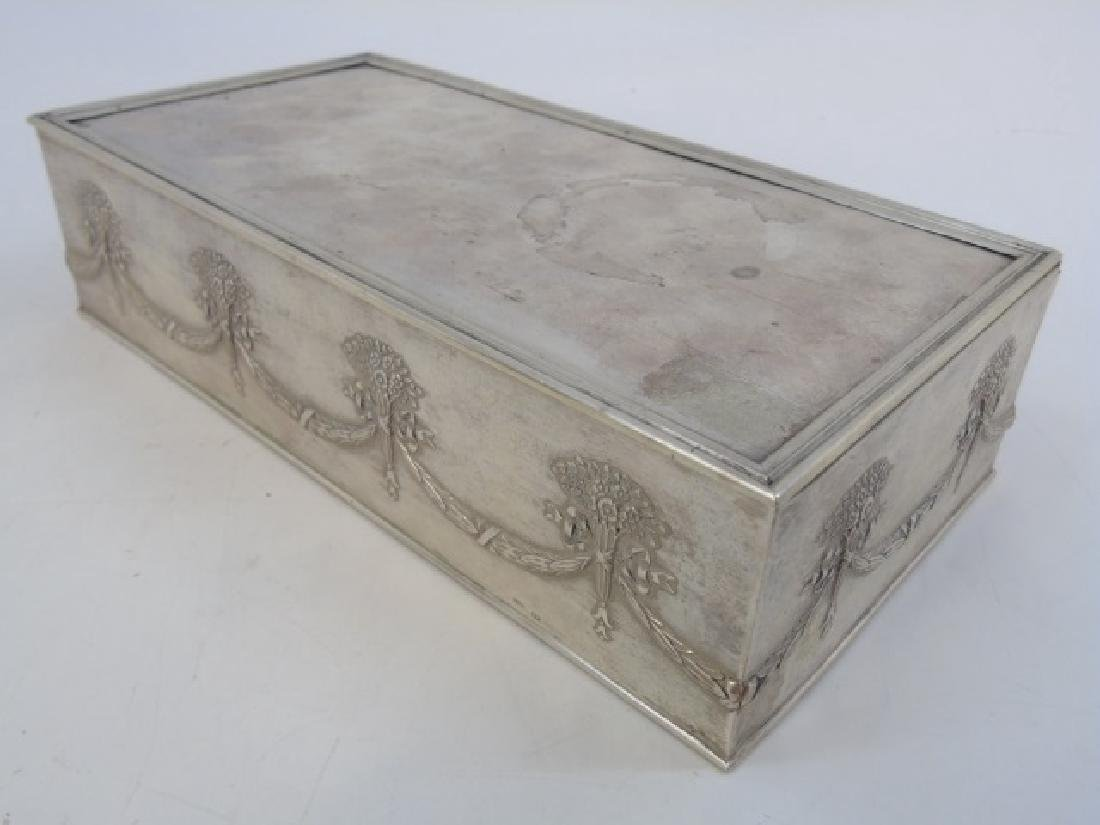 Antique Imperial Russian Silver Cigar / Table Box