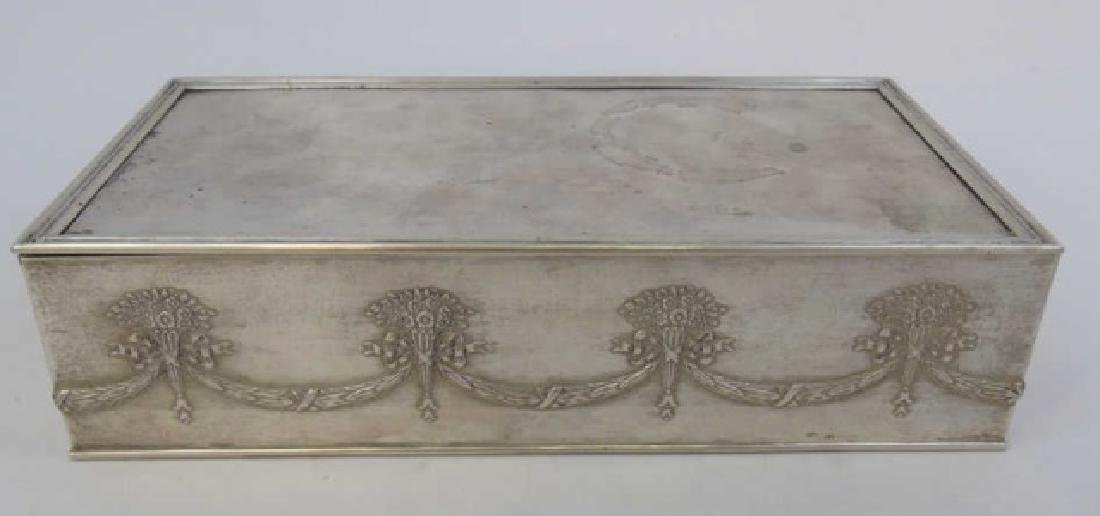 Antique Imperial Russian Silver Cigar / Table Box - 2
