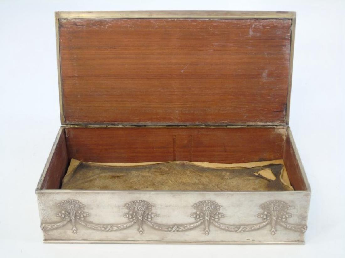 Antique Imperial Russian Silver Cigar / Table Box - 3