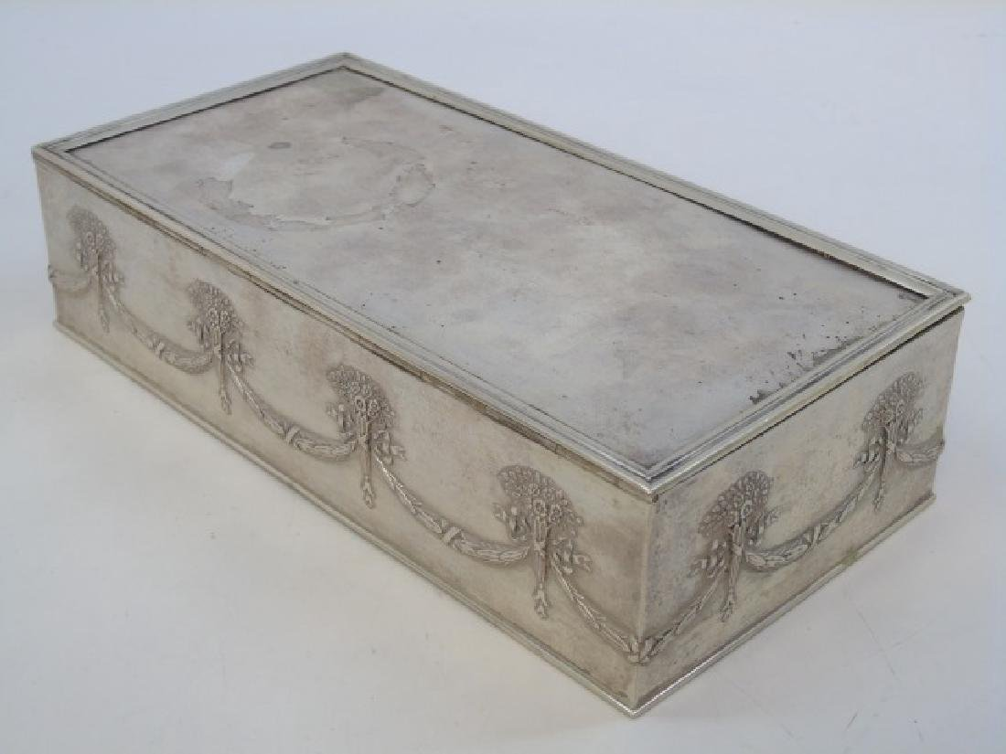 Antique Imperial Russian Silver Cigar / Table Box - 4