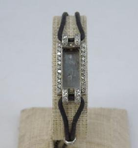 Antique Art Deco Diamond & White Gold Watch Case