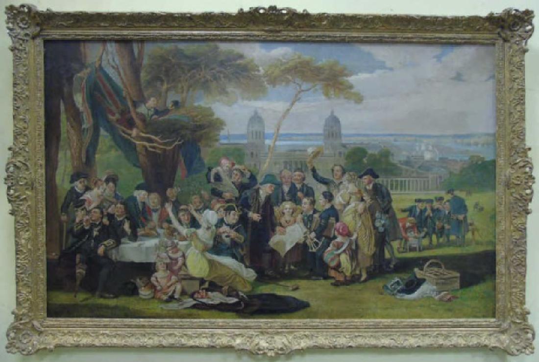 After John Burnet Commemorating Trafalgar Painting