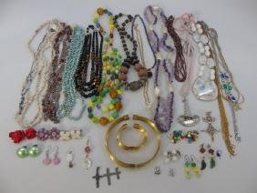 Collection of Vintage 20th C Costume Jewelry