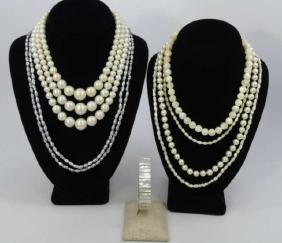 Vintage Costume Pearl & Seed Pearl Jewelry Items