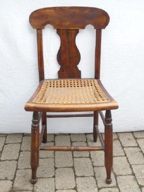 Antique American Queen Anne Style Wood Chair
