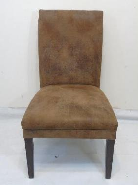 Brown Leather Style UltraSuede Look Chair