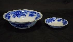 2 19th C. Grindley China Portman Flow Blue Bowls