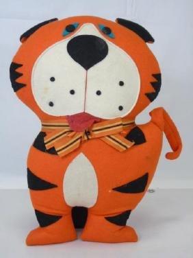 Vintage Princeton University Tiger Mascot Pillow