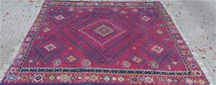 Large Antique Hand Knotted Persian Tribal Carpet