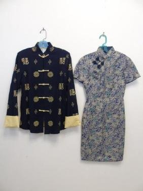 Two Items of Asian Inspired Clothing, Jacket Dress
