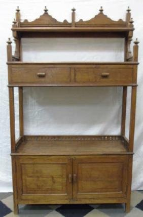 Antique 19th C American Victorian Etagere Cabinet