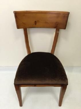 Contemporary Traditional Curved Back Side Chair