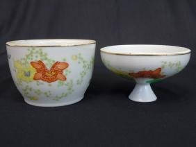 20th C. Chinese White Floral Porcelain Covered Jar