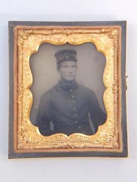 Antique 19th C Photograph Union Soldier Civil War