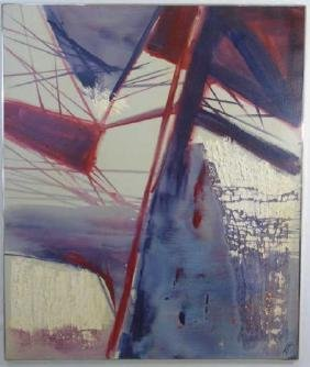 Large Contemporary Modern Dramatic Work on Canvas