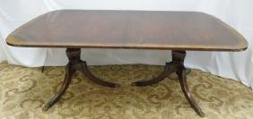 Mahogany Dining Table With Pedestal Base
