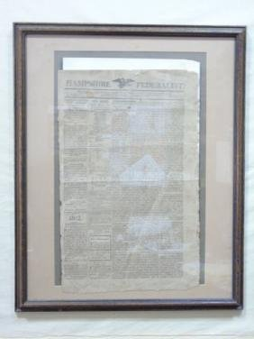 Antique Hampshire Federalist 1811 Newspaper