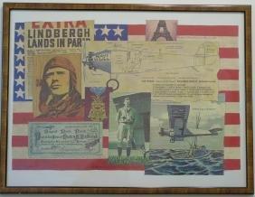 Lindbergh Trans Atlantic Monoplane Flight Print