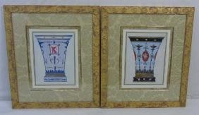 Pair of Contemporary Prints of Ancient Roman Urns