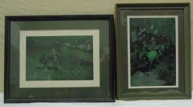 Two Framed Prints After Frederic Remington