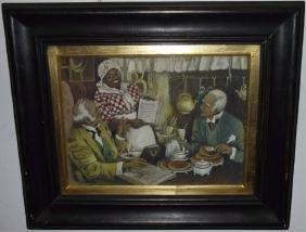 Black Americana - Mixed Media Advertising Painting
