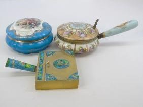 3 Items of Royal Vienna Style & Chinese Enamel