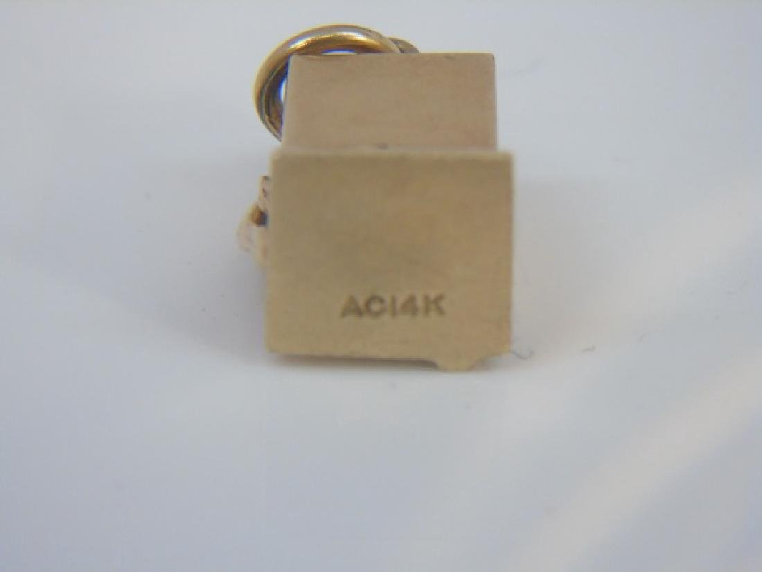 Estate 14k Yellow Gold Slot Machine Pendant Charm - 2