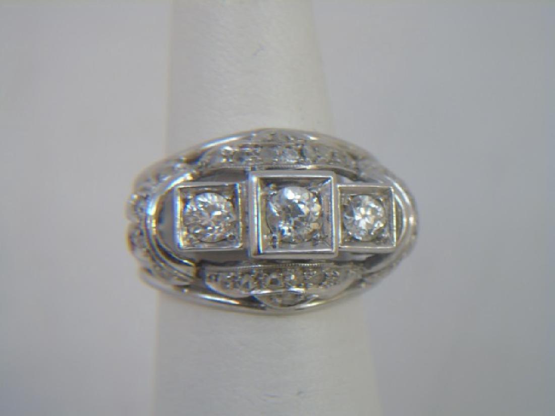Estate White Gold & Diamond Cocktail Ring