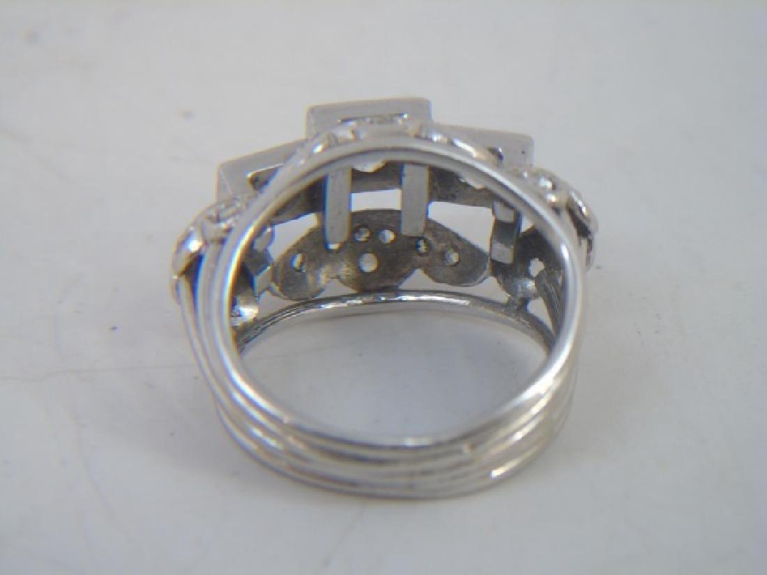 Estate White Gold & Diamond Cocktail Ring - 2