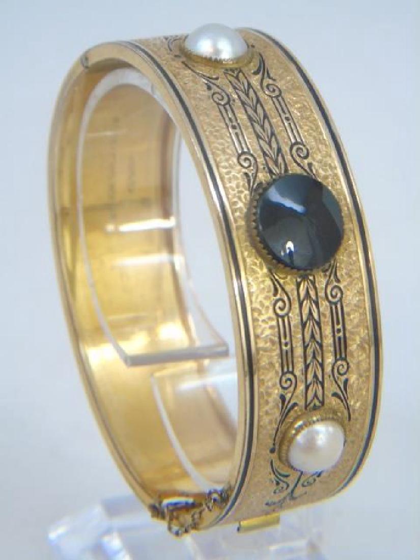 Antique 19th C Victorian 10kt Yellow Gold Bracelet