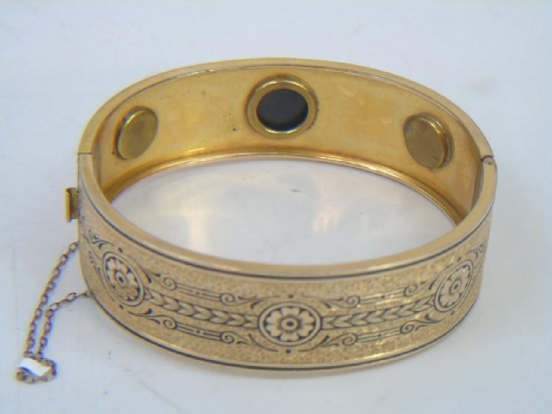 Antique 19th C Victorian 10kt Yellow Gold Bracelet - 2