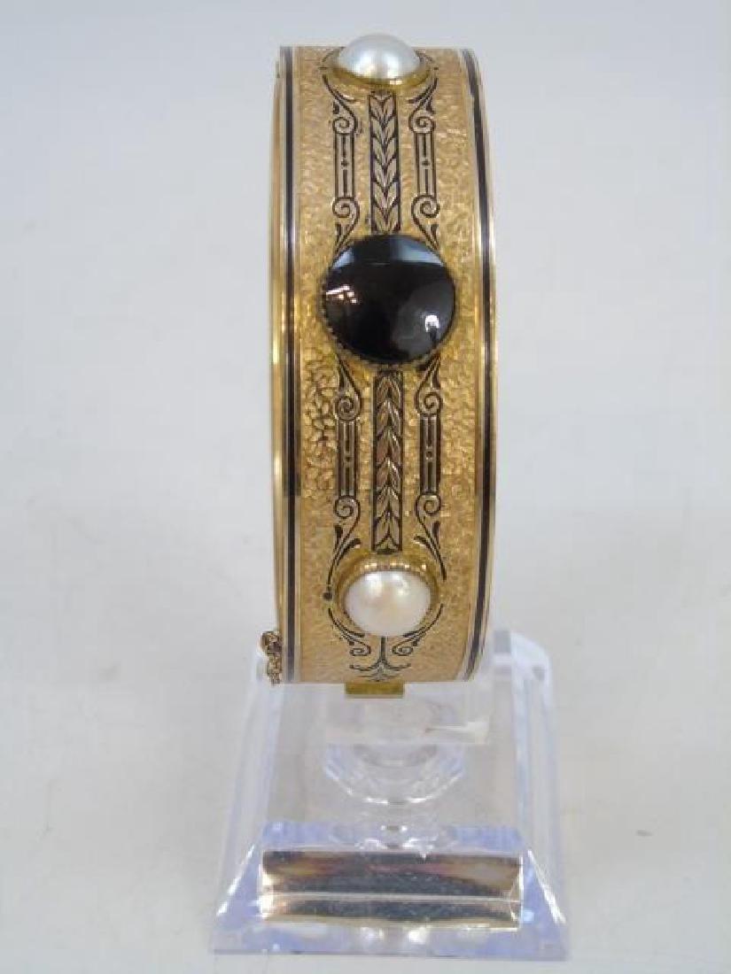 Antique 19th C Victorian 10kt Yellow Gold Bracelet - 3