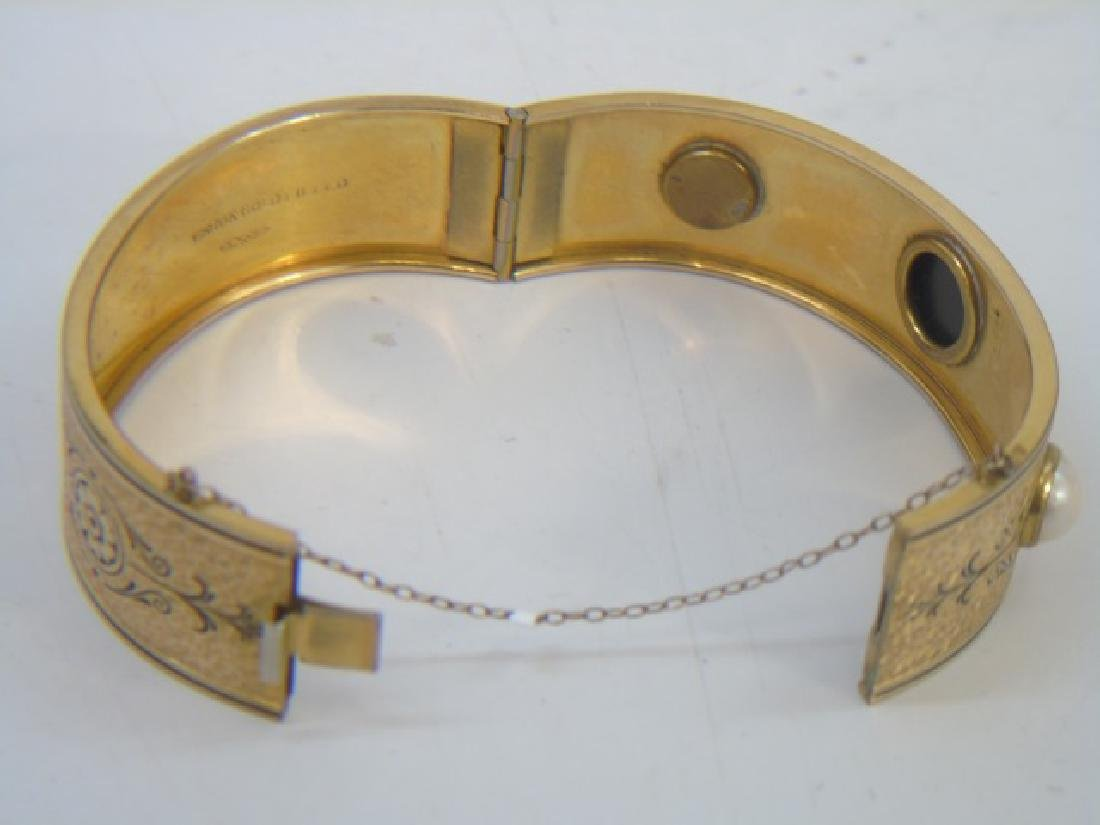 Antique 19th C Victorian 10kt Yellow Gold Bracelet - 4