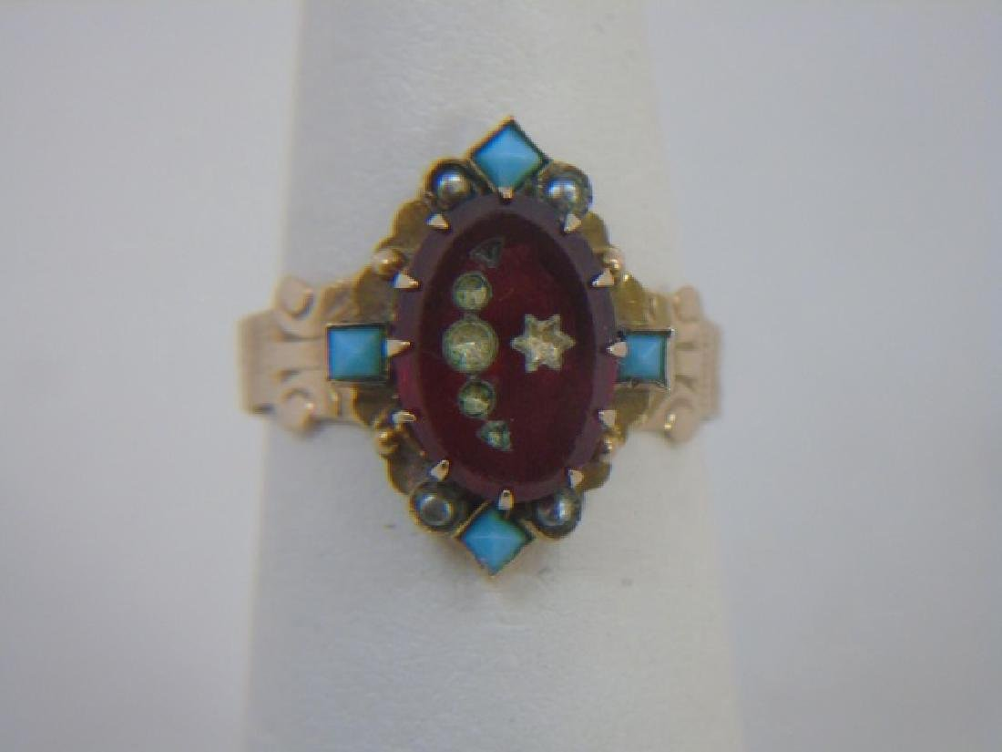 Estate Antique 19th C Victorian Yellow Gold Ring