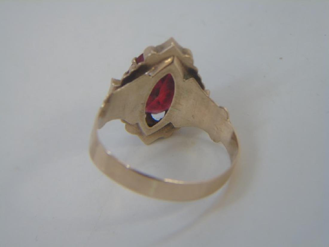 Estate Antique 19th C Victorian Yellow Gold Ring - 2