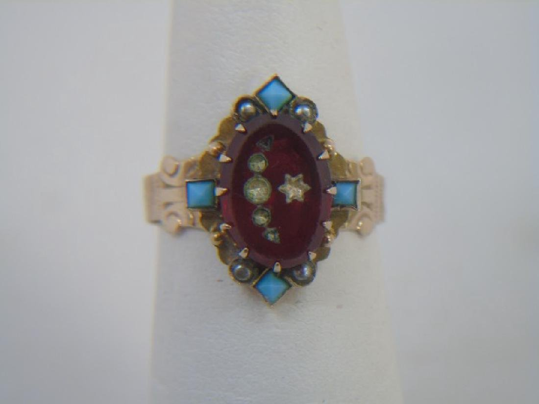 Estate Antique 19th C Victorian Yellow Gold Ring - 3