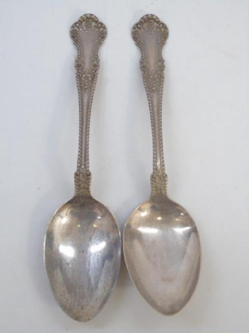 Pair Antique Gorham Sterling Silver Serving Spoons