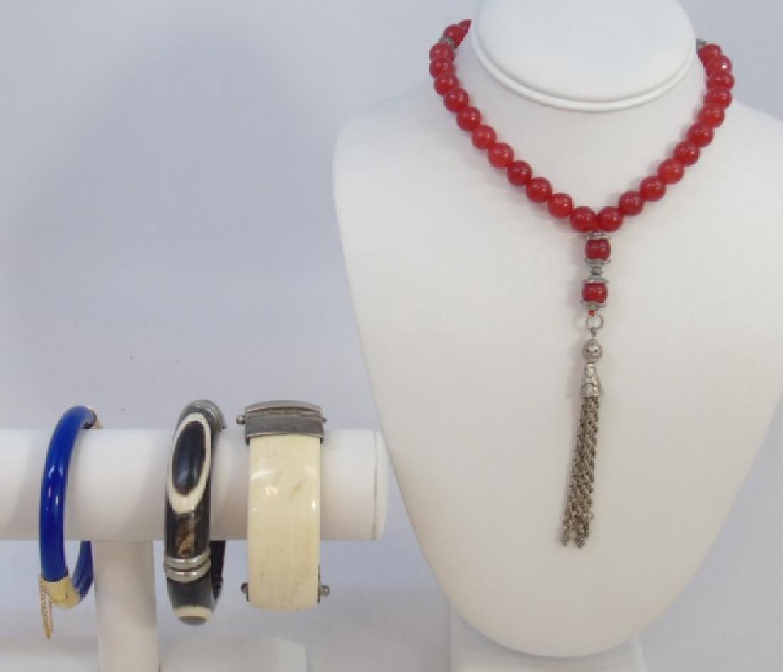 Vintage Chinese Necklace & Bracelet Group Lot