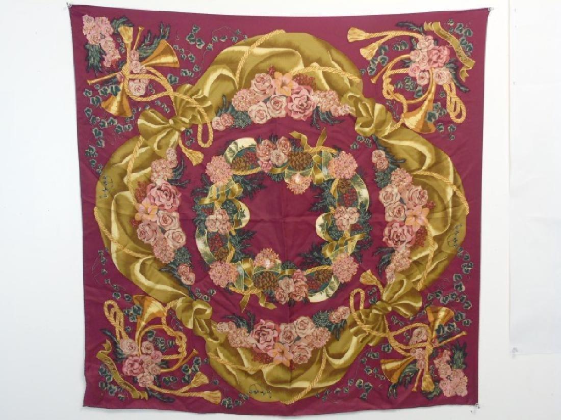 Ladies Floral Motif Ralph Lauren Silk Scarf