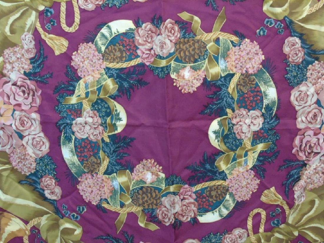 Ladies Floral Motif Ralph Lauren Silk Scarf - 3