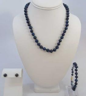 Tahitian Style Black Baroque Pearl Jewelry Suite