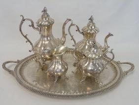 Reed & Barton Silver Plate Tea & Coffee Service