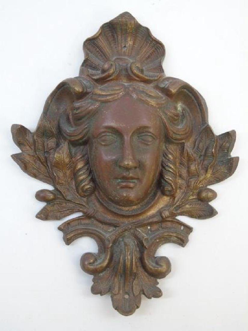 3 Antique Victorian Neo Classical Bronze Plaques - 3