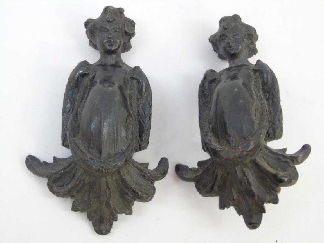 3 Antique Victorian Neo Classical Bronze Plaques - 5