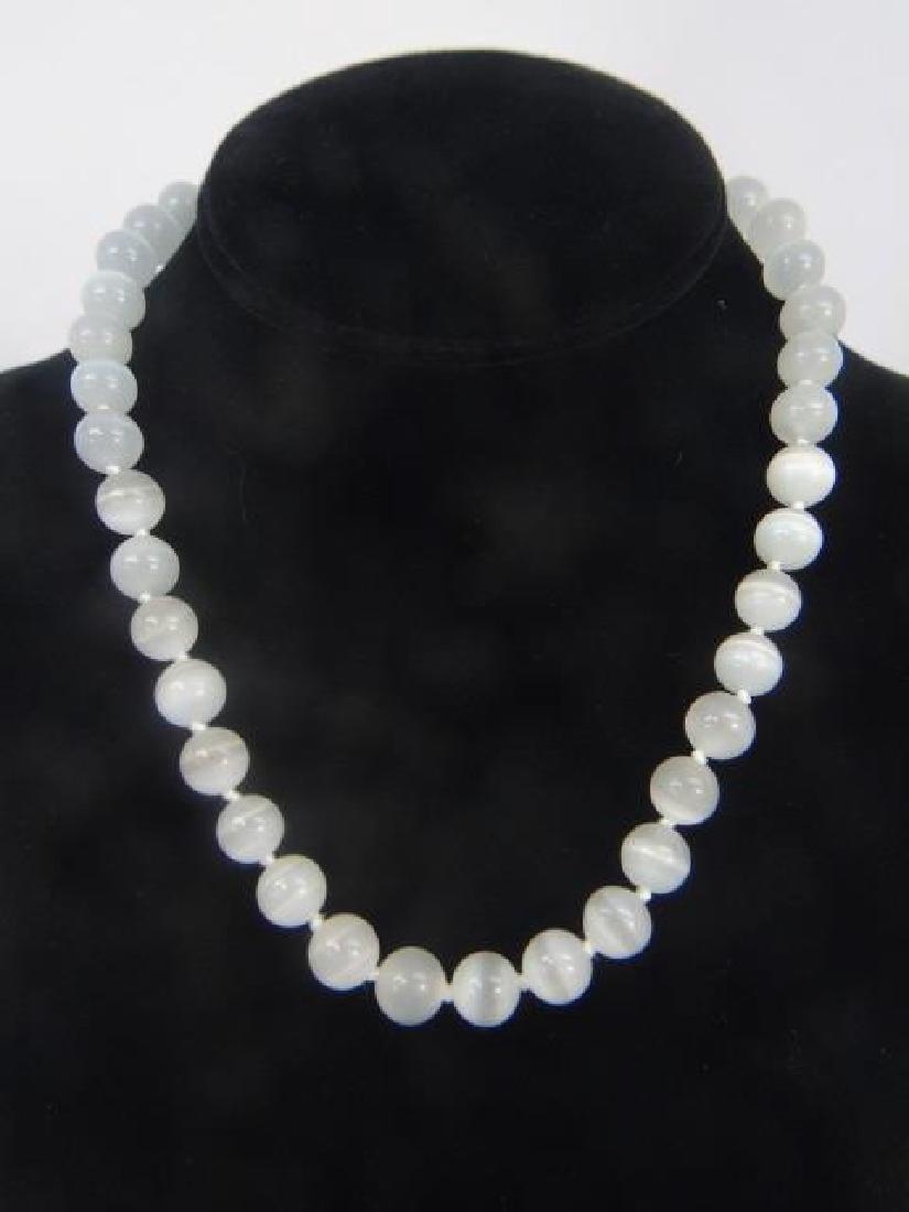 Four Strands of Rose Quartz & Opalescent Beads - 2